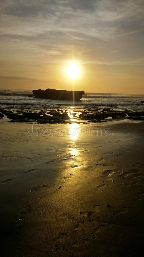 Sunset Bali Indonesia royalty free stock photography