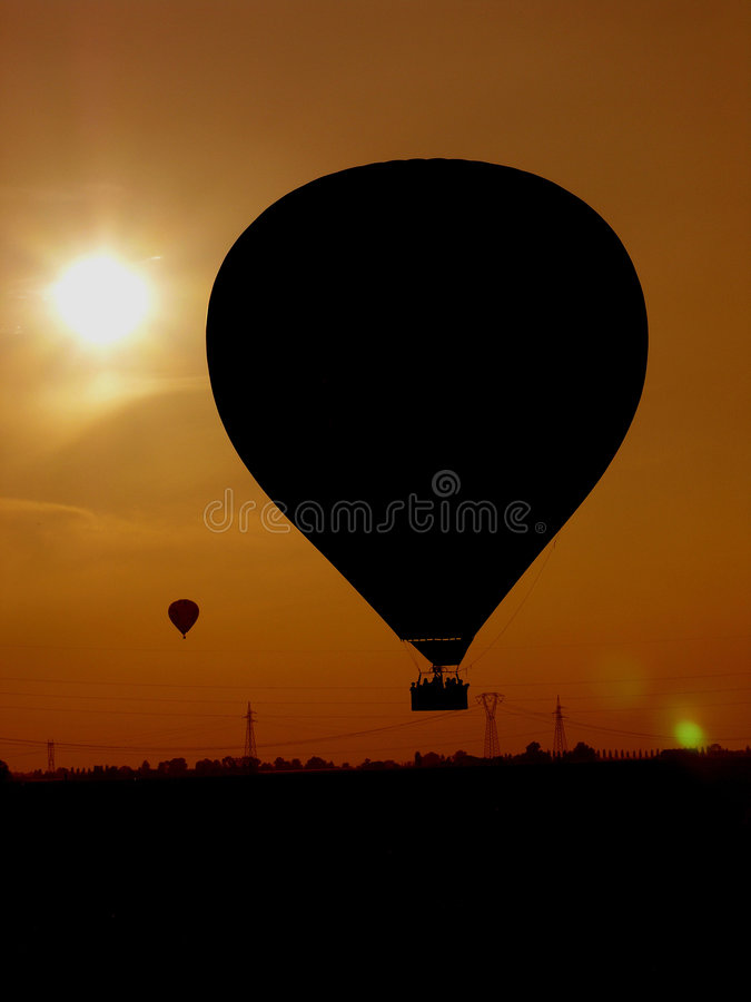 Download Sunset of balloons stock image. Image of balloons, balloon - 3753079