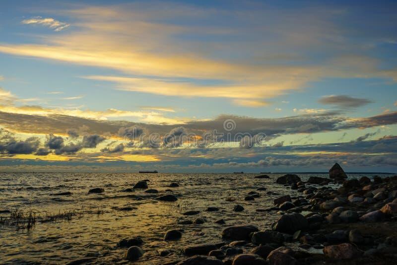 Sunset on the Baltic Sea. Estonia Tallinn stock images