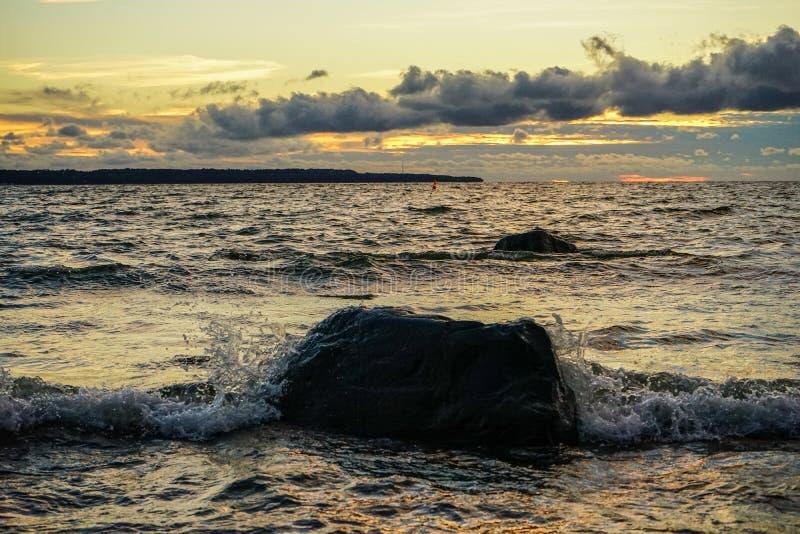Sunset on the Baltic Sea. Estonia Tallinn stock photos