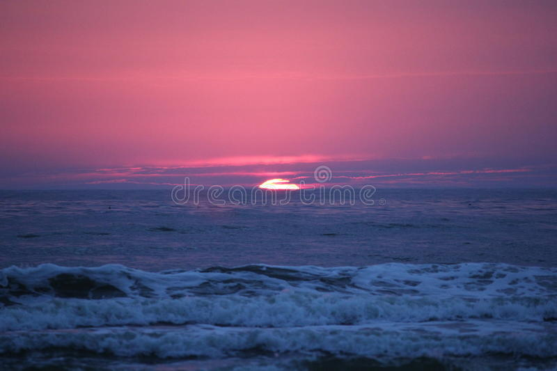 Sunset Baltic sea in Lithuania stock photos
