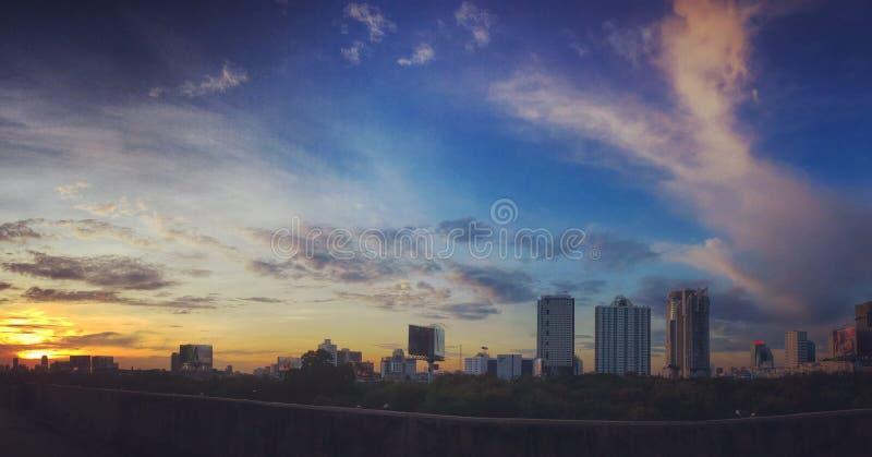Sunset in Bangok royalty free stock photo