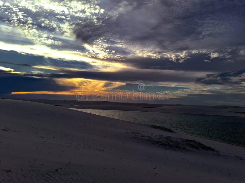Sunset in Barreirinhas stock photos