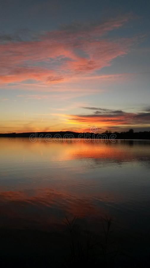 Sunset in Bavaria royalty free stock image