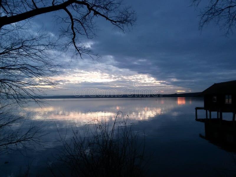 Sunset in Bavaria stock photo