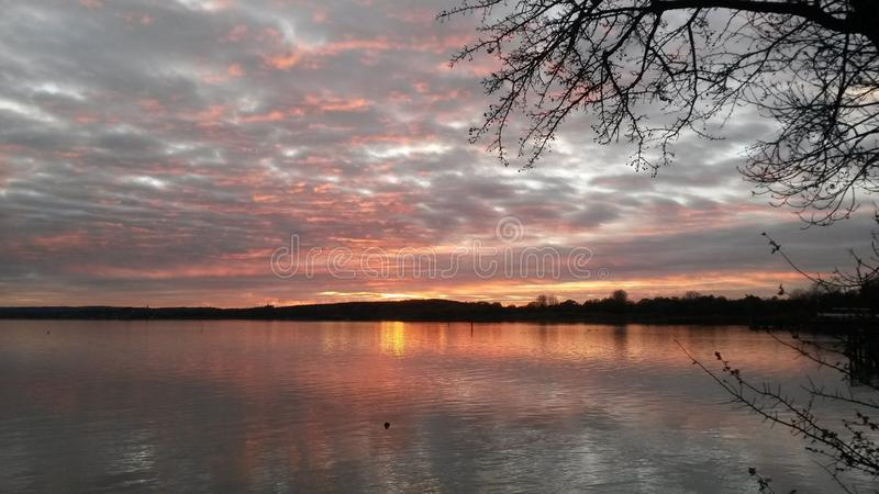 Sunset in Bavaria stock images