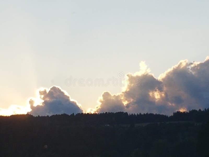 Sunset in Bavaria stock photos