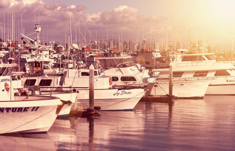 Download Sunset bay editorial stock image. Image of skyline, marina - 29404019