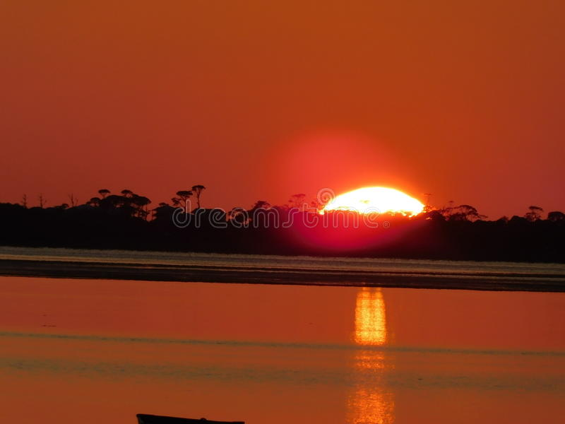 Sunset on the Bay royalty free stock photography