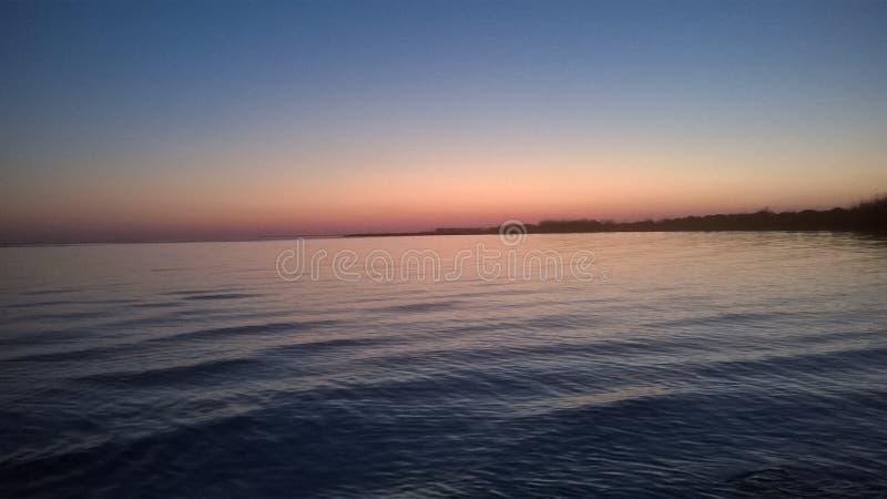 Sunset on bayou la batre Alabama royalty free stock photography