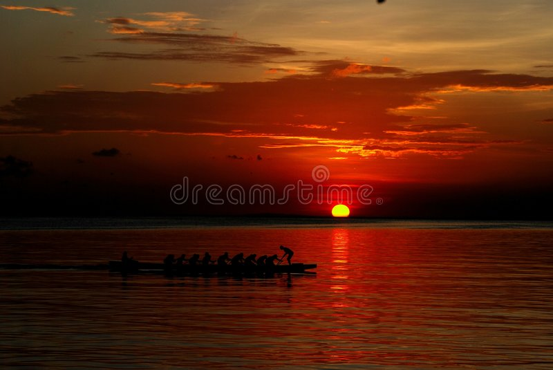 Sunset in Baywalk royalty free stock photography