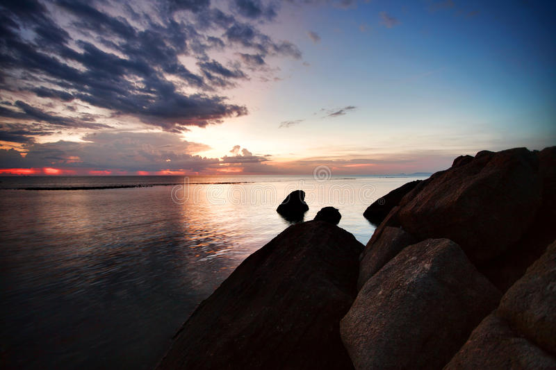 Download Sunset at the beach stock photo. Image of calm, beach - 14852842