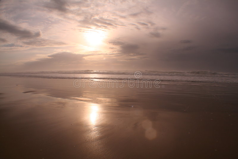 Download Sunset on the beach stock photo. Image of beach, waves - 2212452