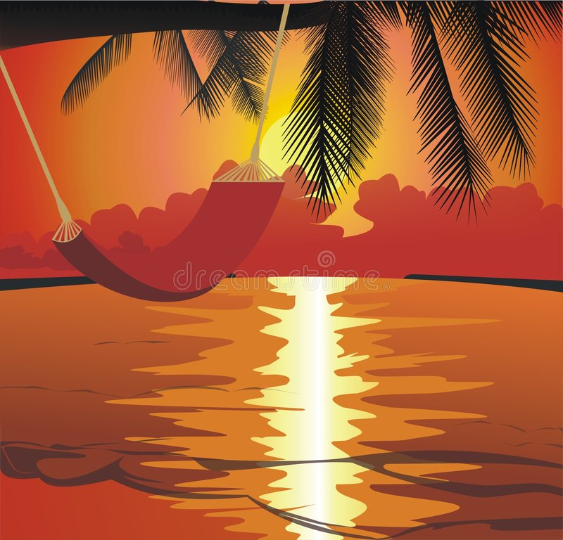 Download Sunset On The Beach Royalty Free Stock Photos - Image: 2403428