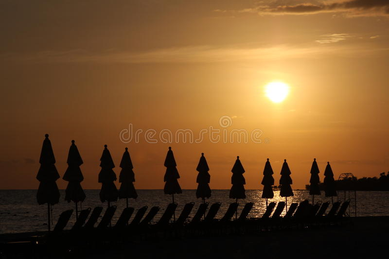 Download Sunset On A Caribbean Beach Stock Image - Image: 29214861
