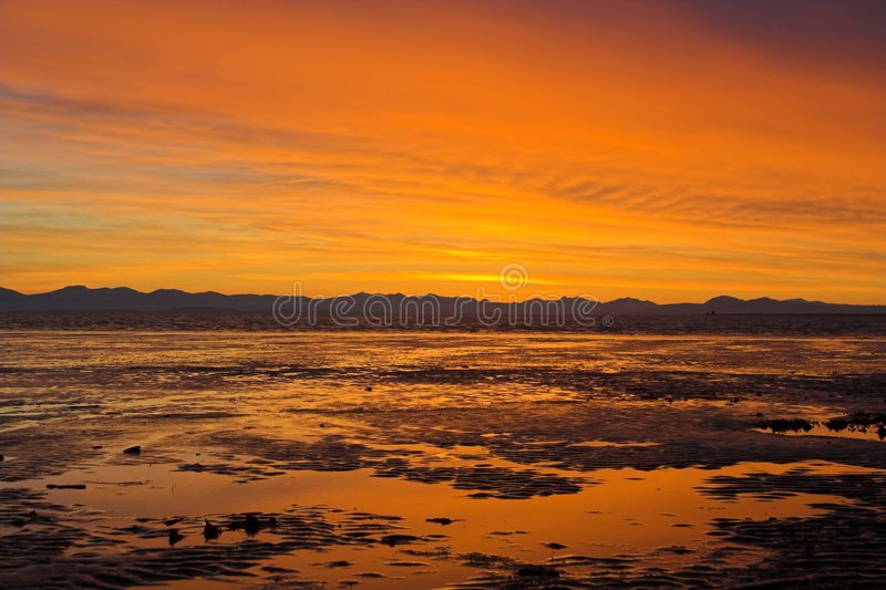 Download Sunset at the beach stock image. Image of layers, colour - 524505