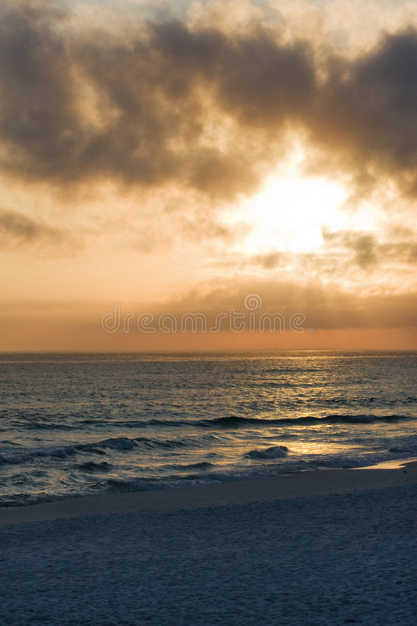 Download Sunset on the Beach stock image. Image of reflection, sunrise - 7703961