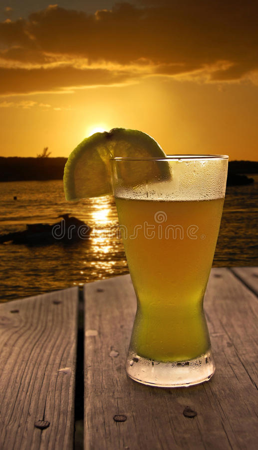 Download Sunset at the Beach Bar stock image. Image of destination - 17934523