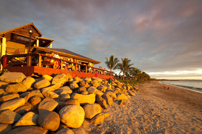 Download Sunset At A Beach Bar In Fiji Editorial Stock Photo - Image: 17080343