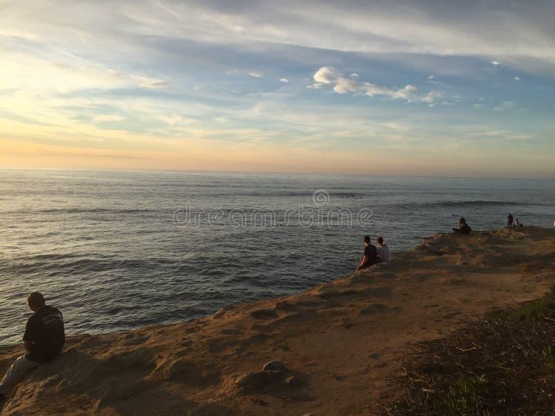 Sunset beach Cali. Sunset at sunset beach stock photography