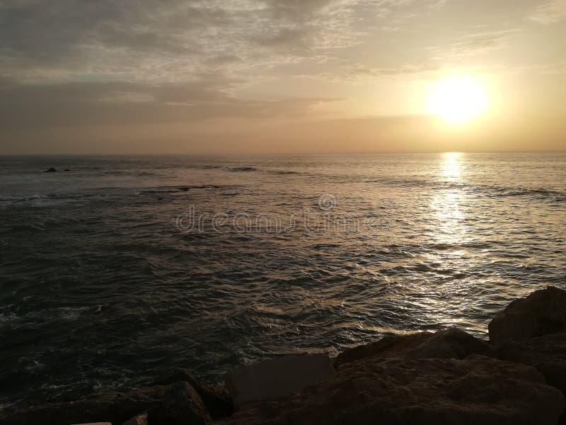 Sunset Beach Ericeira stock photography