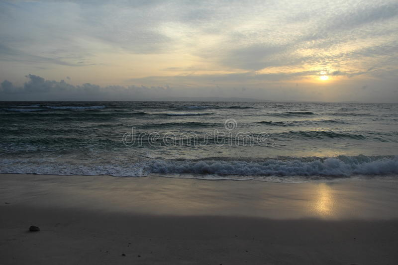 Sunset at beach. royalty free stock images