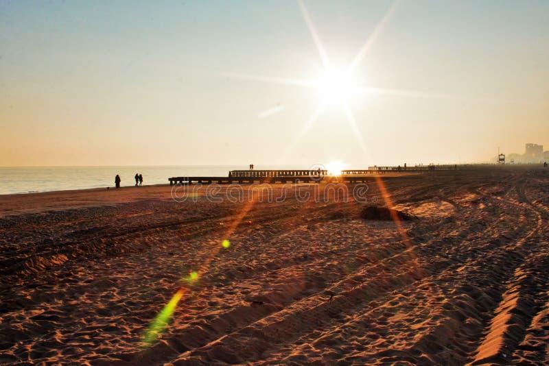 Sunset on the beach, italy jesolo. Sunset on the beach, italy jesolo stock photo