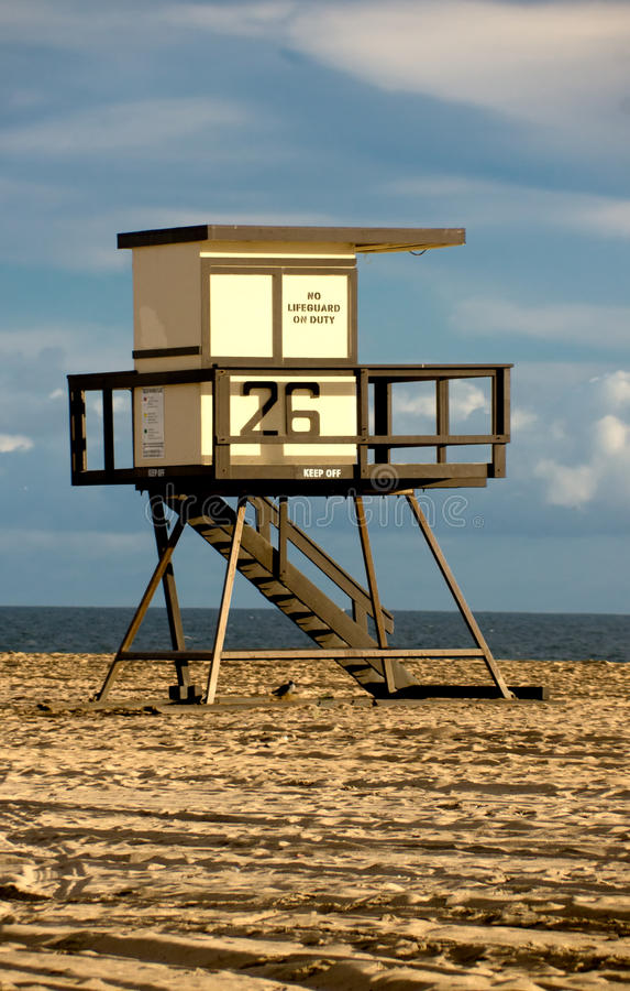 Sunset Beach Lifeguard Tower stock image