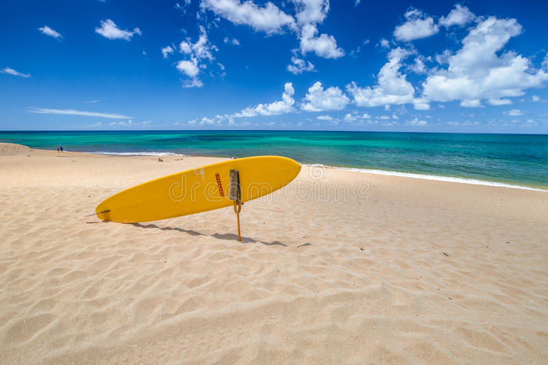 Sunset Beach North Shore. Sunset Beach, North Shore, Oahu, Hawaii. Sunset Beach is home to the prestigious Vans Triple Crown of Surfing in the World Cup of stock image