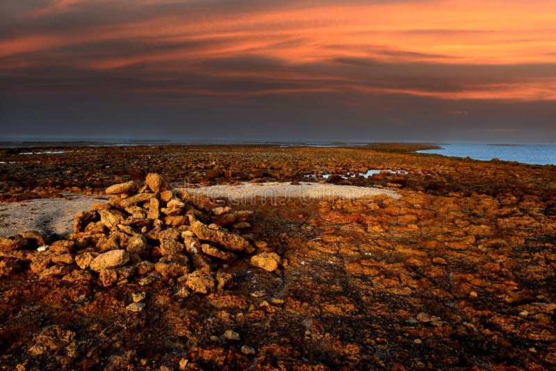 Download Sunset Beach stock photo. Image of orange, nature, cloudscape - 39510914