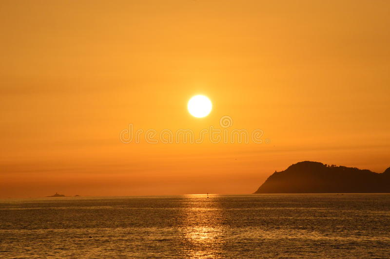 Sunset from the beach royalty free stock photography