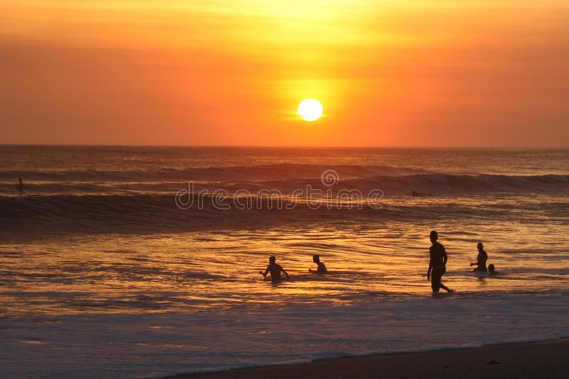 Sunset Beach stock images