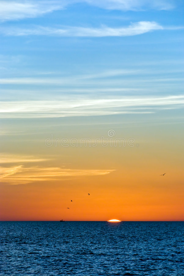 Sunset on the beach in Southwest Florida royalty free stock image