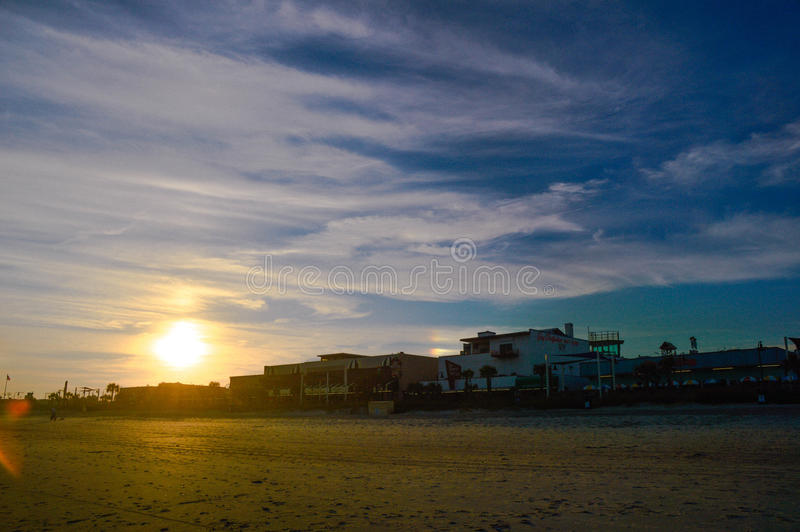 Sunset. The beautiful sunset and hotels, carolina royalty free stock photo