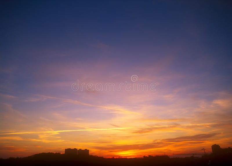 Download Sunset. stock image. Image of copy, yellow, outdoors - 36593987