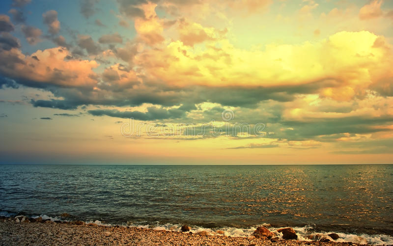 Download Sunset stock photo. Image of outdoors, cloud, sunshine - 33085358