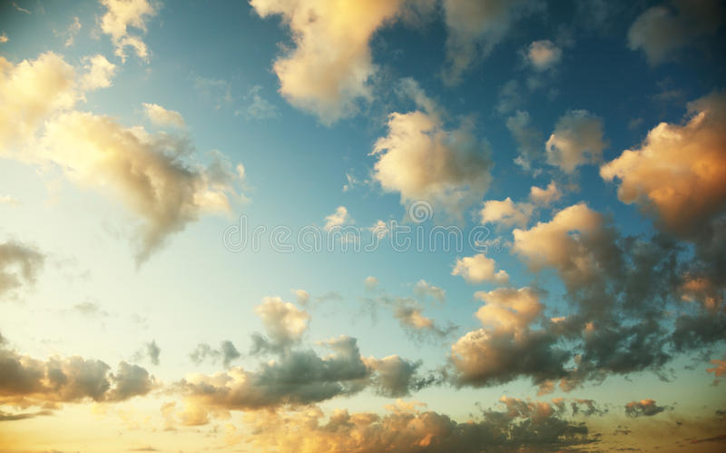 Sunset with beautiful sky. Sunset with beautiful blue sky stock photos