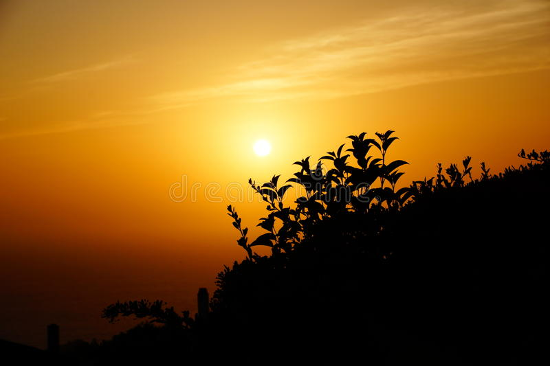 Sunset stock photography