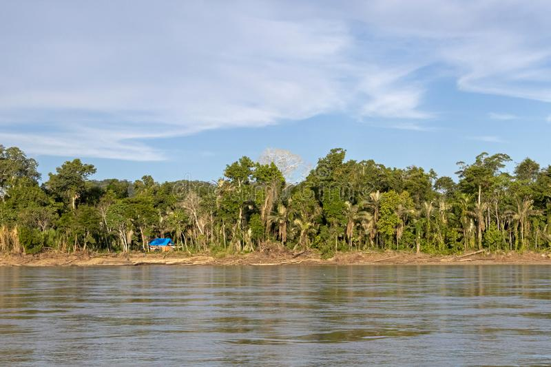 Sunset at Beni river cliffs, adventure in jungles of Madidi national park, Amazon river basin in Bolivia, South America. Sunset at Beni river cliffs during royalty free stock photos