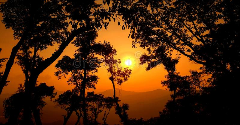 A beautiful sunset royalty free stock images