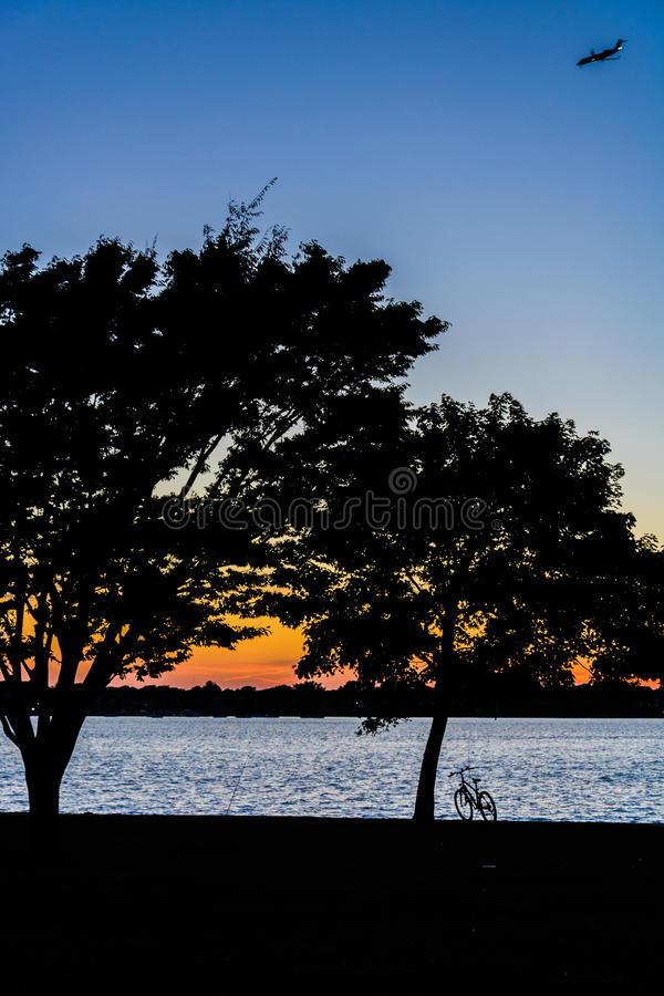 Sunset Bike stock photography