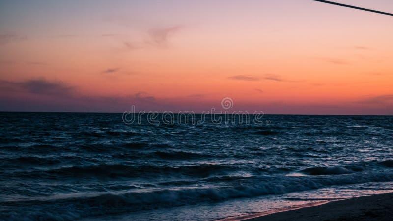 Sunset at the black sea. Photo made by panasonic lumix royalty free stock photo