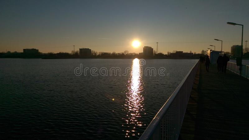 Sunset at the Black Sea royalty free stock image