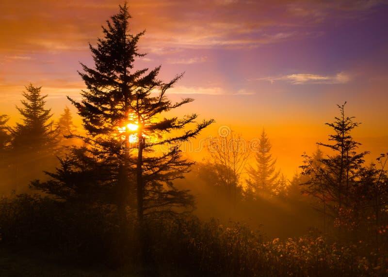 Sunset on the Blue Ridge Parkway stock photography