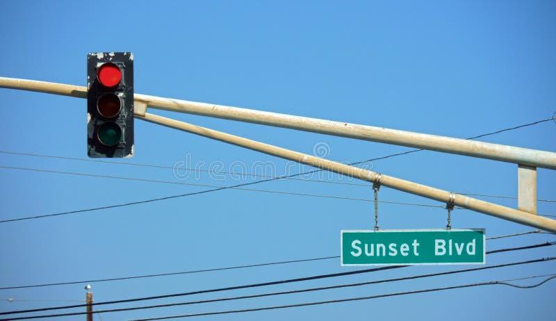 Sunset Blvd, Los Angeles, CA lizenzfreie stockfotos