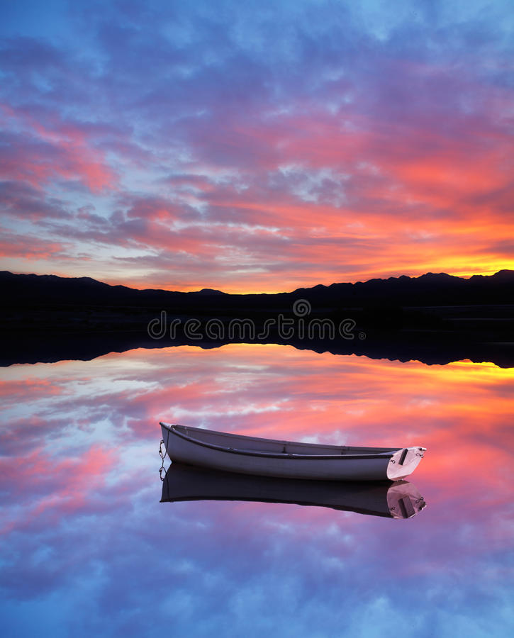 Sunset Boat Royalty Free Stock Images