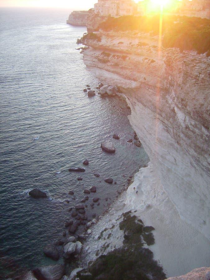 Sunset on Bonifacio royalty free stock images