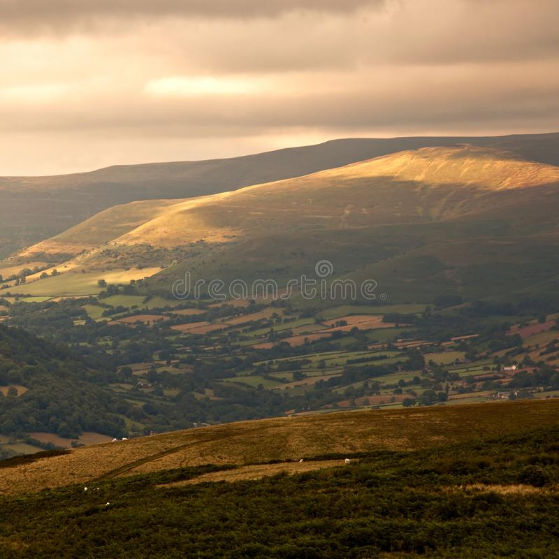 Sunset in Brecon Beacons National Park Wales UK stock photography