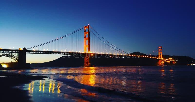 Sunset bridge royalty free stock photo