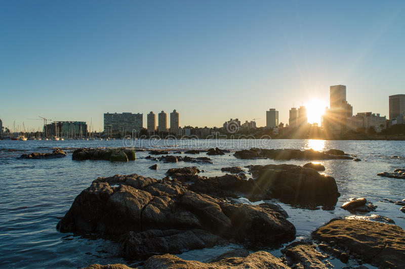 Sunset at Buceo stock images